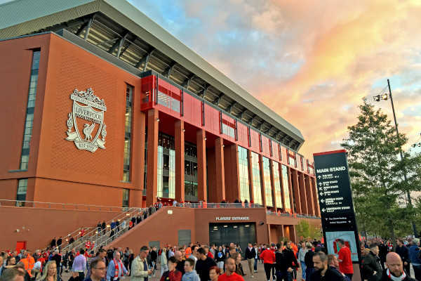 Liverpool FC's Anfield Main Stand.