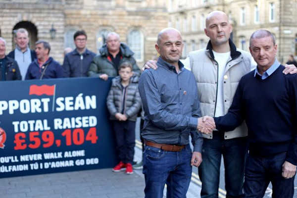 Support Sean Cox Liverpool Handshake Meeting Greeting SOS Spirit of Shankly